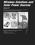 Section W Wireless Solutions and Solar Power Sources